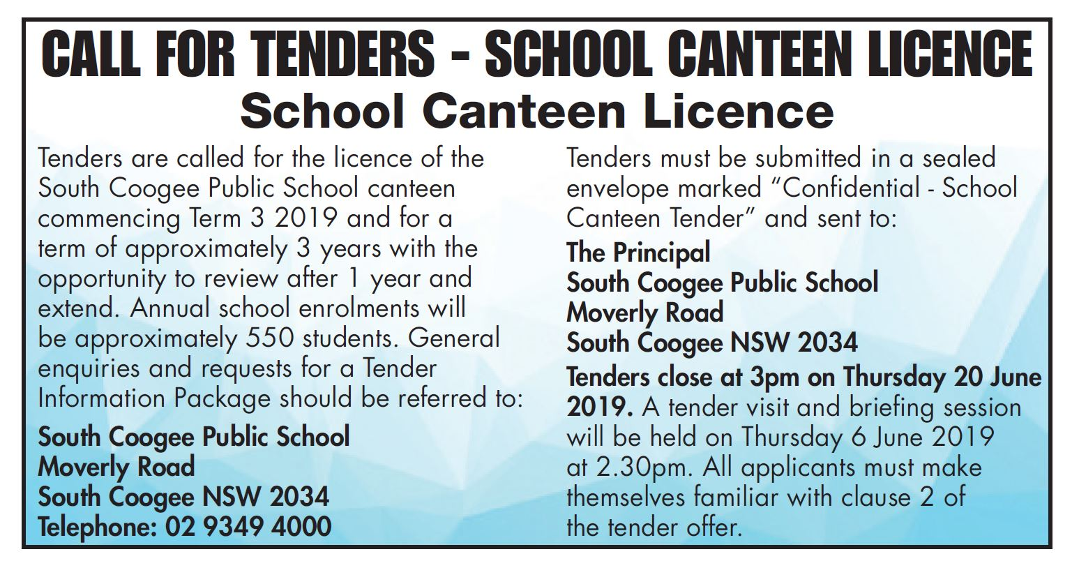 2019: Term 2 Week 2 – SOUTH COOGEE PUBLIC SCHOOL